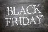Black Friday written on blackboard