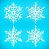Four Beautiful Snowflakes