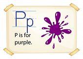 Poster of an alphabet P