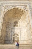 INDIA - NOVEMBER 21: tourists visit the Taj Mahal mausoleum, the nation's largest, November 21, 2012 in Agra, India
