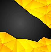 Tech geometry yellow and black background. Vector design template