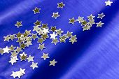 Blue Background Decorated With Stars