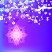 Abstract winter background with snowflakes.