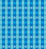 Vector napkin with stripes and snow flakes