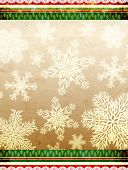 Christmas grunge background with paper texture and snowflakes