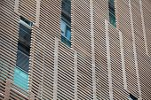 stock photo of louvers  - the wooden louver on building Outdoor blinds - JPG