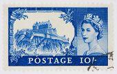 zehn Schilling Stempel mit Edinburgh castle