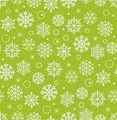 Winter seamless background with snowflakes. Christmas greeting card elements