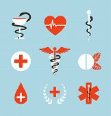 foto of scepter  - Set of graphic medicine icons - JPG