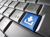 Internet Download Key Button
