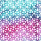 Vector Seamless Pattern With White Snowflakes On Watercolor Background
