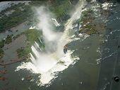 Aerial View Of Iguazzu Falls Angled