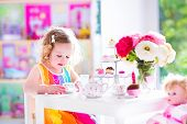Beautiful Little Girl At Tea Party