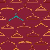 Seamless pattern with different hangers