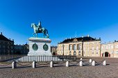 foto of v-day  - Amalienborg is the residence of the Danish Royal Family - JPG