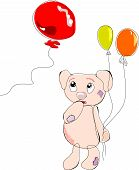 picture of flesh air  - Bear with balloons in hand - JPG