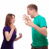 Boy Arguing With His Girlfriend
