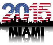 Miami skyline 2015 flag text illustration