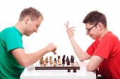 Two Guys Playing Chess