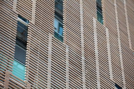 pic of louvers  - the wooden louver on building Outdoor blinds - JPG