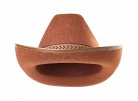 image of wrangler  - cowboy hat isolated on white background - JPG