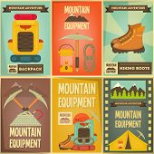 stock photo of boot camp  - Mountain Climbing Posters Collection - JPG