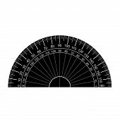 foto of protractor  - image of protractor vector isolated on white - JPG