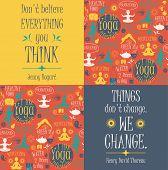image of pranayama  - Yoga background with yogic quotes - JPG