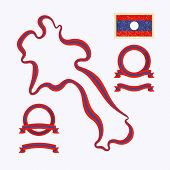 picture of nationalism  - Outline map of Laos - JPG