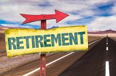 picture of retirement  - Retirement sign with road background - JPG