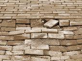 foto of paving  - Destroyed paving slabs requires urgent repairs - JPG