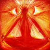 pic of all seeing eye  - Fine art painting of an all seeing eye appearing during visualization meditation - JPG