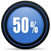 image of 50s  - 50 percent icon sale sign