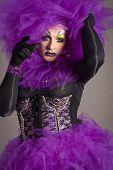 Drag Queen In Violet Dress