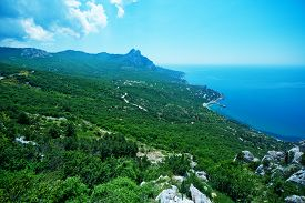 foto of crimea  - mountain and blue sky Crimea mountain nature in Crimea - JPG