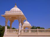 stock photo of baps  - An Indian Hindu Temple - BAPS Swaminarayan Mandir in Lilburn, GA