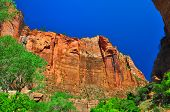 Sheer Cliffs At Zion Np