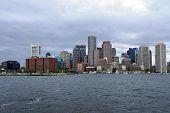 Skyline From Boston Harbor