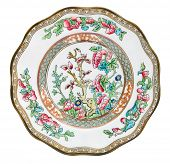 A Victorian Coalport plate in the Indian Tree design - genuine antiques series