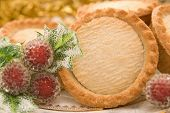 Close up of mince pies in a Christmas setting - shallow dof