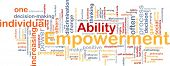 Background concept wordcloud illustration of enpowerment