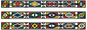Set Of Traditional African Ndebele Patterns - Vector Illustration