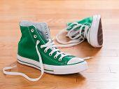Retro Green Sneakers