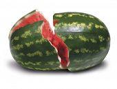 gebrochene Wassermelone