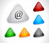 Color 3d buttons for web.