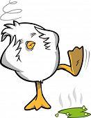 Hungover Chicken Vector Illustration