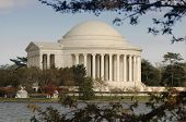 pic of thomas jefferson memorial  - Jefferson Memorial exterior looking across the Tital Basin - JPG
