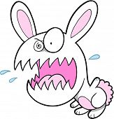 Crazy Bunny Rabbit Vector Illustration