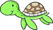 foto of sea-turtles  - Cute Sea turtle Vector Illustration - JPG
