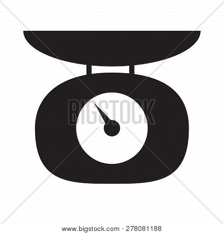Weighing Scales Icon On White